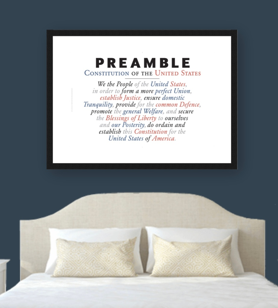 Preamble to the US Constitution Poster